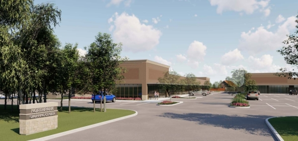 Many businesses and restaurants are opening at the Centre at Northpark development. (Rendering courtesy East Montgomery County Improvement District)