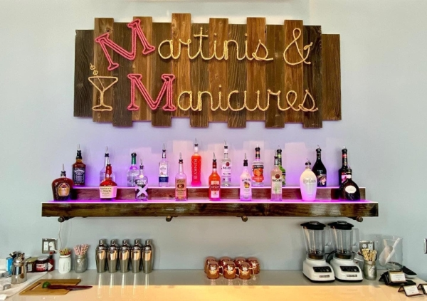 Martinis and Manicures opened its Shenandoah location at Metropark Square in November. Courtesy Martinis and Manicures