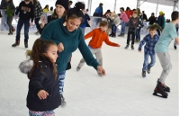 Valley Ranch Town Center is transformed into an icy wonderland for the second year in a row during the East Montgomery County Improvement District's A Holiday to Remember Ice Skating Event Dec. 21-Jan. 5. (Courtesy East Montgomery County Improvement District)