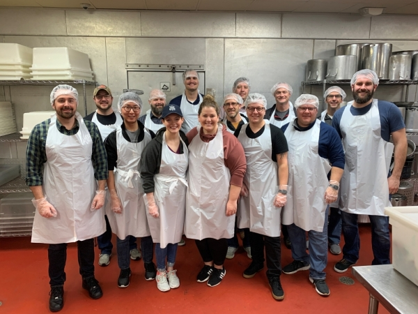 Employees with Ramsey Solutions in Franklin spent the month of November volunteering at nonprofit organizations in the Greater Nashville area. (Courtesy Ramsey Solutions)