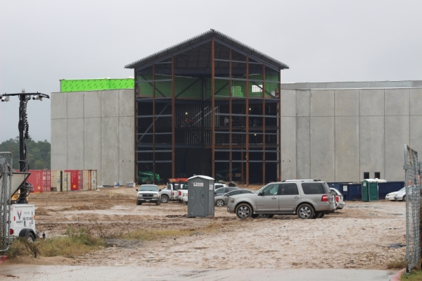 A Regal Theater is under construction near the Grand Parkway. Photo by Andrew Christman/Community Impact Newspaper.