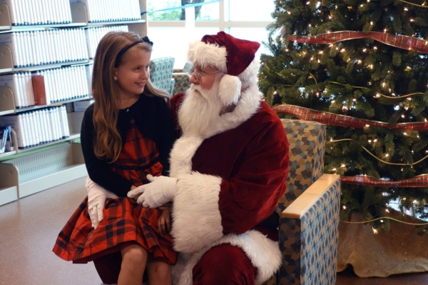 Spend an afternoon with Santa on Dec. 14. (Courtesy Pflugerville Public Library)