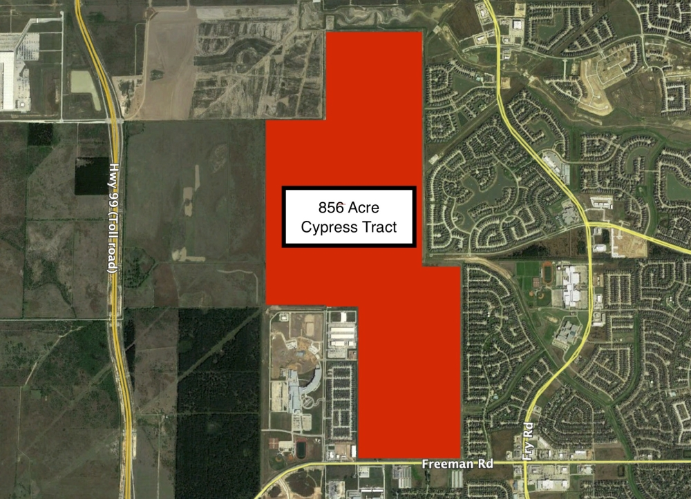 Developers behind a new community planned in Cypress approached Harris County MUD 165 about providing utility infrastructure for the community. (Courtesy Land Tejas)