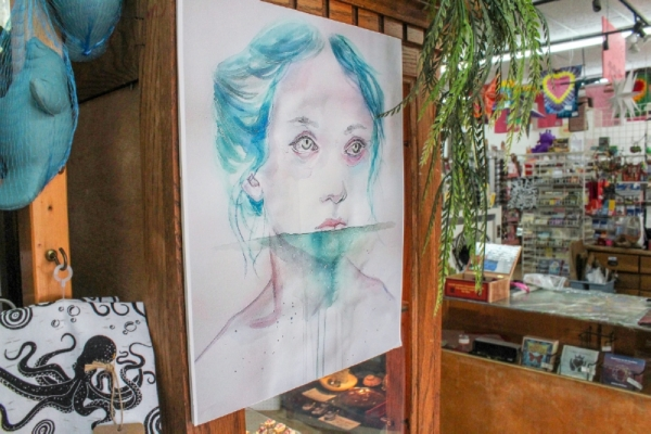 The store sells work from regional artists. (Anna Herod/Community Impact Newspaper)