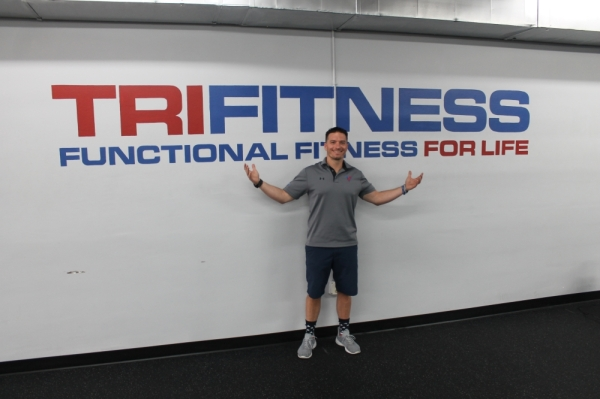 Jake Trione opened TriFitness Gym in January with co-owner John Adiletta. (Jake Magee/Community Impact Newspaper)