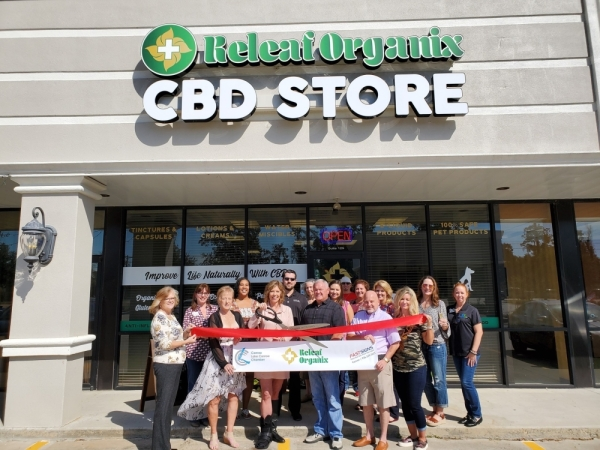 Releaf Organix held a ribbon-cutting ceremony with the Conroe Chamber of Commerce on Nov. 6. (Courtesy Releaf Organix)