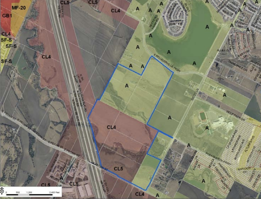 Lakeside Meadows is a proposed 419.52-acre mixed-use development, designed to include residential, commercial and industrial units. (Courtesy city of Pflugerville)