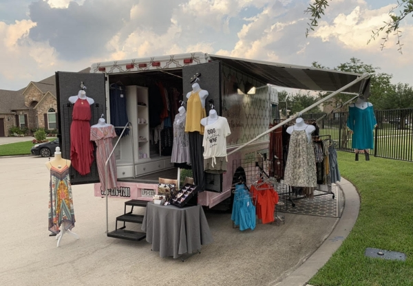 Le Chateau Chic Boutique, a mobile fashion truck, will open inside Bonjour Belle Salon and Suites, which will also open in January. (Courtesy Le Chateau Chic Boutique)
