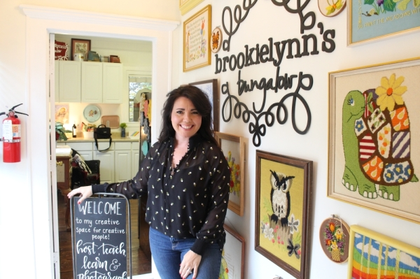 Owner Brooklyn Calloway opened the Pecan Street venue in 2018. (Elizabeth Ucles/Community Impact Newspaper)