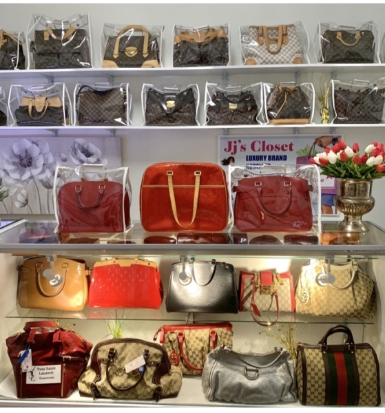 The store specializes in preowned, authentic luxury purses with a variety of styles and brands to choose from, such as Louis Vuitton, Gucci, Burberry, Chanel, Dior and Prada. (Courtesy Jj's Closet)
