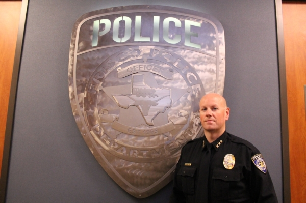 David Shilson has served with the Frisco Police Department for 17 years. (Lindsey Juarez Monsivais/Community Impact Newspaper)