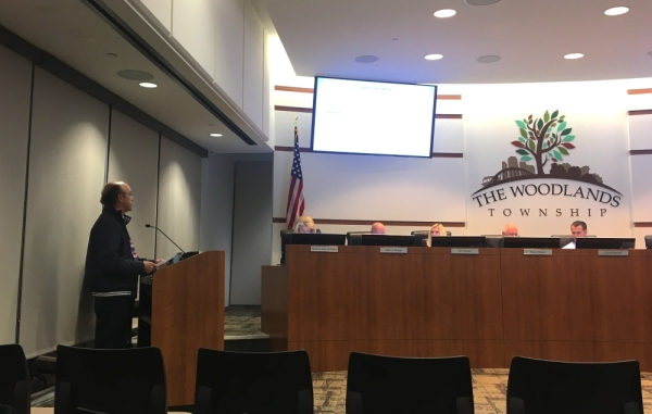 Carlos Wehby was one of several residents in The Woodlands who spoke about feral hogs at the Dec. 4 board meeting. Vanessa Holt/Community Impact Newspaper