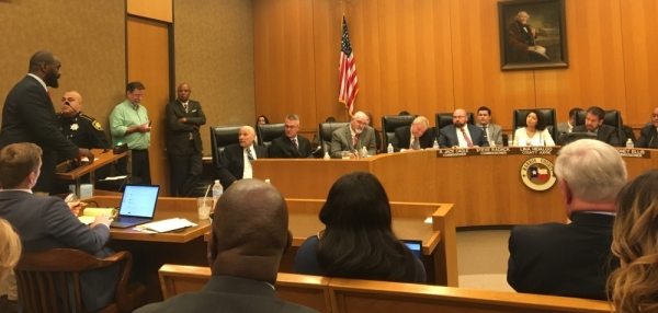City of Houston Mayor Pro Tem Jerry Davis, who currently holds the District B seat on the Houston City Council, addressed the Harris County Commissioners Court Dec. 3. (Hannah Zedaker/Community Impact Newspaper)