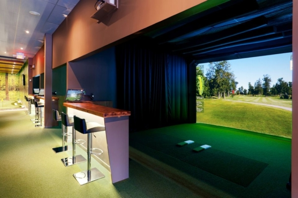 Daylight Golf in Grapevine will offer a virtual golf experience, similar to the one pictured here. (courtesy Daylight Golf)