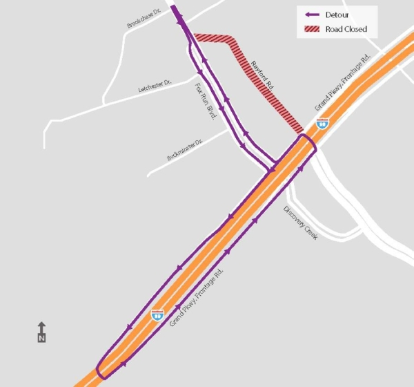 The overnight closure will allow Montgomery County Precinct 3 to install a drainage pipe across Rayford Road. (Courtesy Montgomery County Precinct 3)