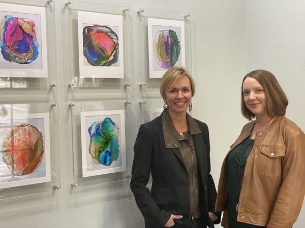 Natasha McRee (left) and Morgan Doherty founded Wexel Art in 2010. (All photos by Brian Rash/Community Impact Newspaper)
