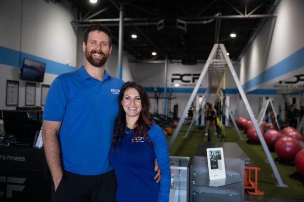 ProCore Fitness owners Caitlin and Justin Lewis have a history of fitness training. Justin Lewis decided to open ProCore to encourage long-term results focused training. (Liesbeth Powers/Community Impact Newspaper)