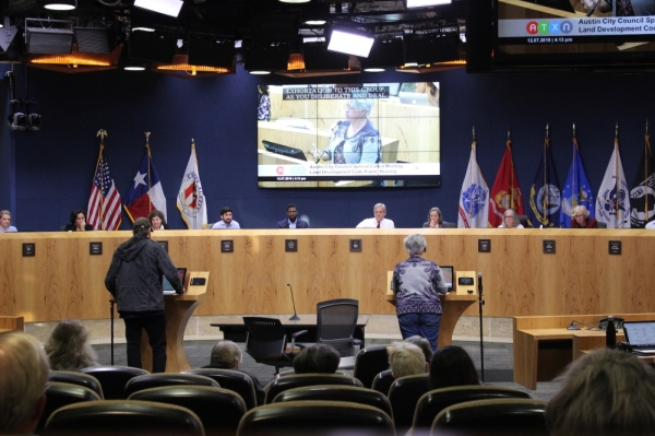 Hundreds of residents weighed gave City Council their thoughts on the proposed changes to the city's land use rules on Saturday, Dec. 7. (CHRISTOPHER NEELY/COMMUNITY IMPACT NEWSPAPER)