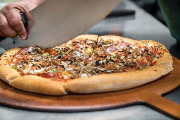 Double Dave's Pizzaworks opened its first San Marcos location on Dec. 3. (Community Impact Newspaper staff)