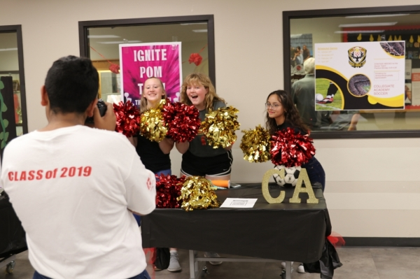 Collegiate Academy students show off their school spirit. (Courtesy Grapevine-Colleyville ISD)