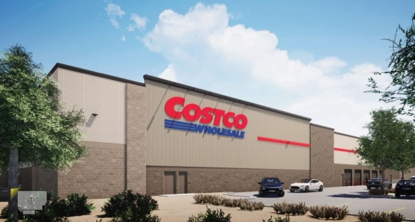 This rendering depicts the northwest perspective of the Costco planned for Georgetown. (Courtesy city of Georgetown)
