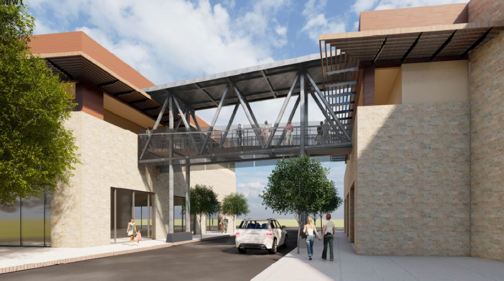 Bee Cave City Council approved a bridge between two buildings in the Hill Country Galleria during its Dec. 10 meeting. (Courtesy city of Bee Cave)
