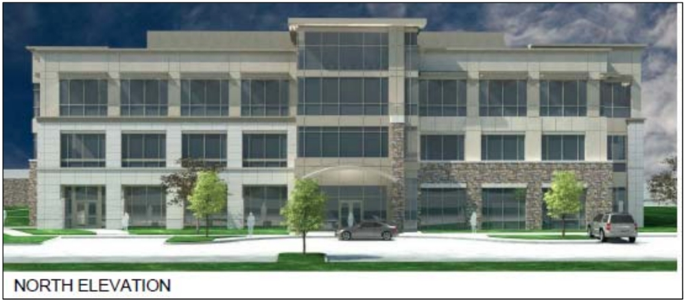 A new office building is planned for the southwest corner of West SH 114 and North White Chapel Boulevard in Southlake. (Rendering courtesy city of Southlake)