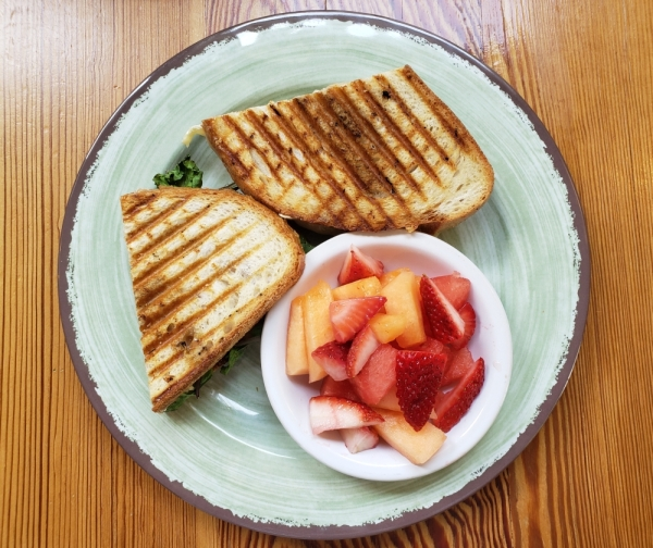 Sweet Lemon Kitchen offers a turkey brie sandwich. (Ali Linan/Community Impact Newspaper)