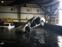 Fathom Academy is the only indoor facility designed for swift-water rescue training in the world. (Ali Linan/Community Impact Newspaper)