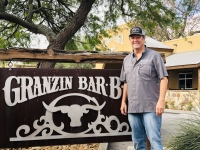 Granzin Bar-B-Q owner Miles Granzin has been in the barbecue business most of his life and has operated his own restaurant for more than 35 years. (Ian Pribanic/Community Impact Newspaper)