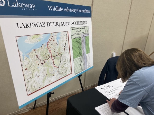 The WAC held open house events Nov. 14 and 15 at the Lakeway Activity Center that sought citizen input on the city's deer population. (Brian Rash/Community Impact Newspaper)