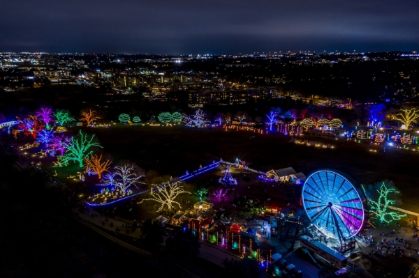 Residential roads in Rollingwood will remain closed to through traffic every day from 5-10 p.m. until Dec. 23, the last day of the event. (Courtesy Austin Trail of Lights)