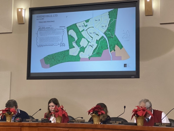 A 2013 revision of Serene Hills identified 8.26 acres to be donated to the city that met the slope and access design standards required for public parkland. (Brian Rash/Community Impact Newspaper)