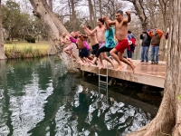 Jump into the New Year at the Blue Hole Polar Bear Plunge. (Courtesy Blue Hole)