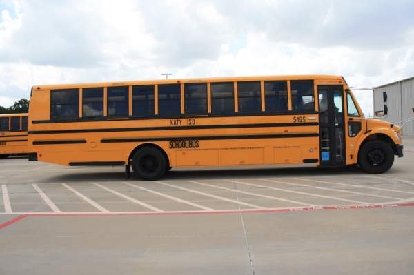 The Katy ISD bus fleet will receive upgraded camera systems by the end of the year. (Jen Para/Community Impact Newspaper)