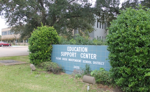 Clear Creek ISD sign, CCISD stock image