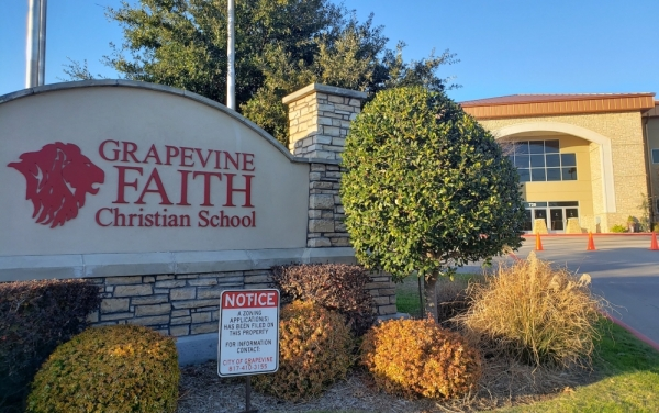 Grapevine Faith Christian School received approval for projects to add a baseball field, a softball field and a STEAM center from Grapevine City Council. (Miranda Jaimes/Community Impact Newspaper)