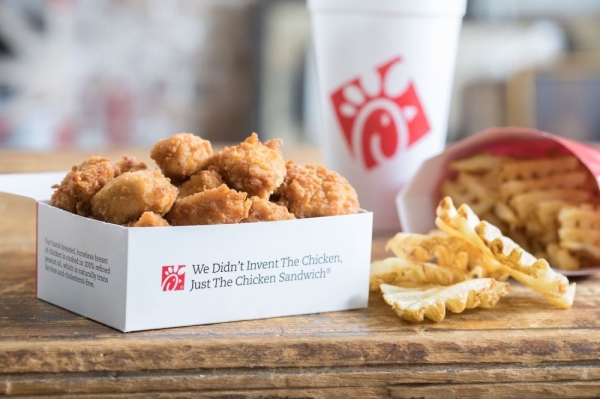 chick-fil-a fried nuggets waffle fries