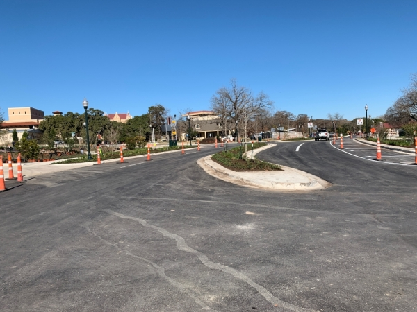 The reconstruction project on CM Allen Parkway that started in August 2018 is now open to traffic. (Katharine Jose/Community Impact Newspaper)