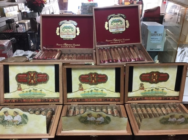 The store reopened on Sawdust Road Dec. 2. Courtesy Woodlands Fine Cigars