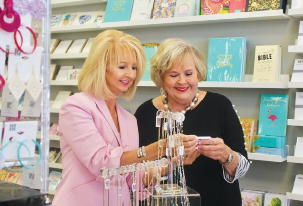 Steel Magnolia Marketplace is run by owner Linda Harman (left) and Manager Janey Richardson (right). (Sally Grace Holtgrieve/Community Impact Newspaper)