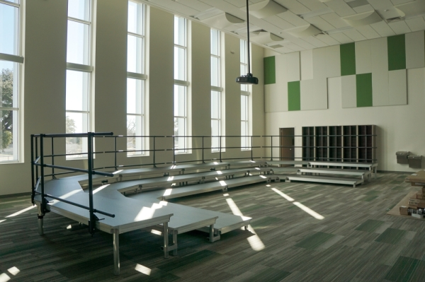 McNeil High School's new music wing is expected to be ready for use when school resumes in January, according to Principal Amanda Johnson. (Courtesy Round Rock ISD)