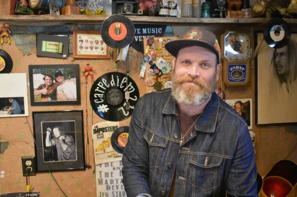 Will Jordan started Carpe Diem in 2012 as a photography studio, but it eventually evolved into the records-and-antiques store that it is today. (Alex Hosey/Community Impact Newspaper)