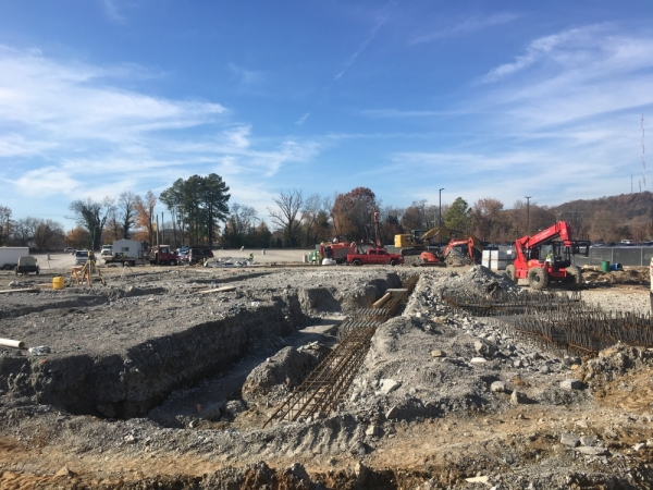 Virginia Springs Phase II is under construction in Brentwood and will add another office building to the development. (Wendy Sturges/Community Impact Newspaper)