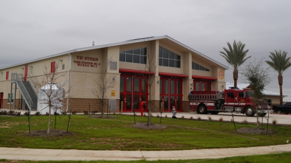 Vic Stern Fire Station No. 2, located at 150 Swindoll Lane, Hutto, celebrated its official opening with a dedication ceremony on Dec. 20. (Kelsey Thompson/Community Impact Newspaper)
