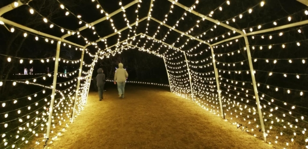 The Trail of Lights is held weekends in Stagecoach Park. (Courtesy city of Buda)