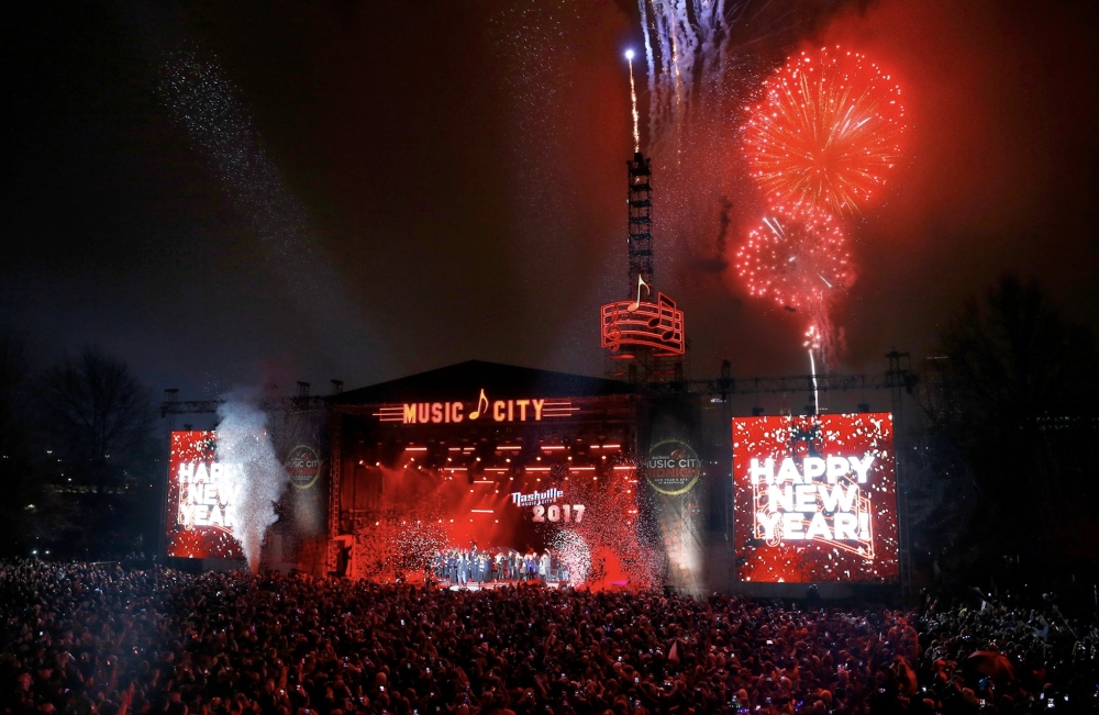 Jack Daniel's Music City Midnight, Nashville's free New Year's Eve celebration, returns for its 11th year Dec. 31. (Courtesy Nashville Convention & Visitors Corporation)