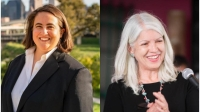 Former Houston Planning Commissioner Isabel Longoria (left) trailed District H Council Member Karla Cisneros by 12 votes in the Dec. 14 runoff election. (Courtesy photos)