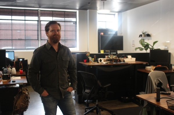 Ben McCraw is chief design officer at Accomplice. (Olivia Aldridge/Community Impact Newspaper)