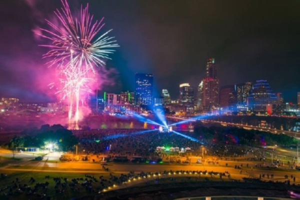 The city of Austin hosts a family-friendly and alcohol-free New Years' Eve bash with live music and a fireworks show. (Courtesy Chris Sherman)